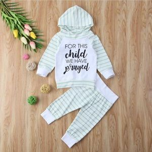 Other - For this child we have prayed infant outfit